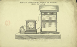 Advert for Negretti & Zambra's Temperature Recorder, reverse side